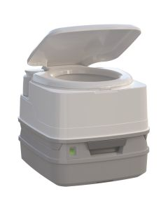 Thetford Porta Potti 260P MSD Marine Toilet 90 degree with Piston Pump, Level Indicator, and Hold-Down Kit
