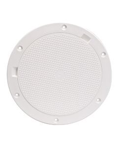 "Beckson 8"" Non-Skid Pry-Out Deck Plate - White"