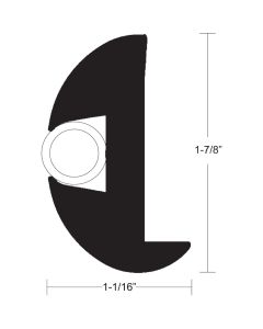 """TACO Flex Vinyl Rub Rail Kit - Black w/White Insert - 50' - 1-7/8"""" x 1-1/16"""""""