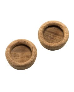 """Whitecap Teak Round Drawer Pull - 1-3/8"""" Round - 2 Pack"""