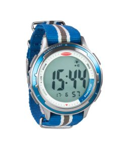 """Ronstan Clear Start Sailing Watch - 50mm (2"""") - Stainless Steel w/Blue Canvas Band"""