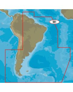 C-MAP MAX-N+ SA-Y501 - Gulf of Paria to Cape Horn