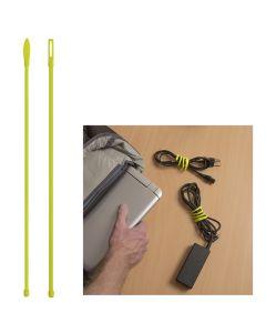 "Nite Ize Gear Tie CordableTwist Tie - 12"" - Neon Yellow - 2-Pack"