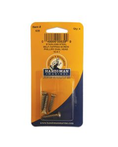 Handi-Man Phillips Self Tapping Oval Screw Stainles Steel - #10 x 1""