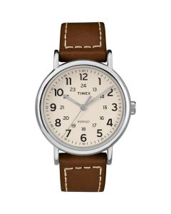 Timex Weekender 2-Piece Leather Strap Watch - Cream