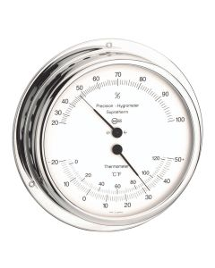 BARIGO Hygro-/Thermometer - Chromed Brass