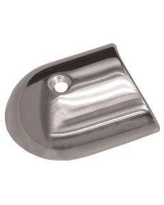 TACO Polished Stainless Steel 2-19/64'' Rub Rail End Cap