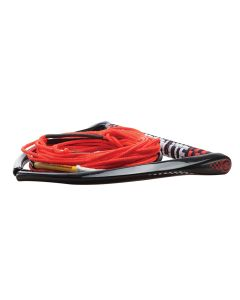 "Hyperlite 75' Rope w/Chamois Handle Fuse Mainline Combo - Red - 5 Section - 15"" Handle"