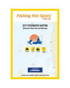 Fishing Hot Spots PRO USA 2019 Freshwater Mapping Nationwide Inland Lakes & Waterways f/Lowrance & Simrad Units