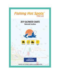 Fishing Hot Spots Pro SW 2019 Saltwater Charts Nationwide Coastlines f/Lowrance & Simrad Units