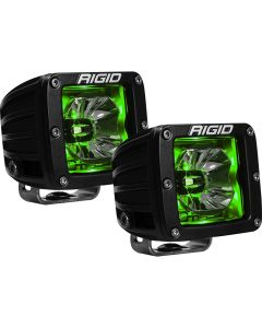 RIGID Industries RadiancePod Green Backlight Black Housing - Pair