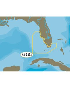 C-MAP NT+ NA-C393 Miami to Key West to Tampa - C-Card Format