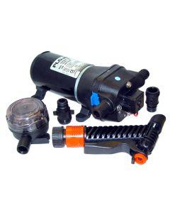 FloJet 24V, 40psi Washdown Pump w/Nozzle - 4.3 GPM
