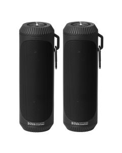 Boss Audio Bolt Marine Bluetooth Portable Speaker System w/Flashlight - Pair - Black