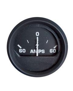 Faria Ammeter Gauge (60-0-60 Amps) - Black