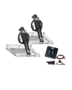 "Lenco 9"" x 9"" Standard Performance Trim Tab Kit w/Standard Tactile Switch Kit 12V"