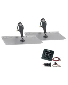 "Lenco 12"" x 18"" Standard Trim Tab Kit w/Standard Tactile Switch Kit 12V"