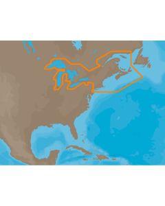 C-MAP MAX NA-M026 - Great Lakes & The Maritimes - C-Card