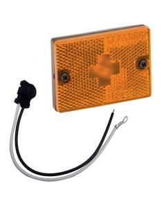 """Wesbar Sidemarker Clearance Light w/18"""" Pigtail - Amber"""