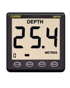 Clipper Depth Instrument w/Thru Hull Transducer & Cover