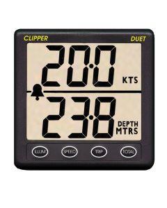 Clipper Duet Instrument Depth Speed Log w/Transducer