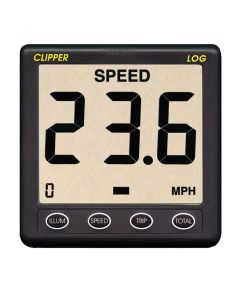 Clipper Speed Log Instrument w/Transducer & Cover