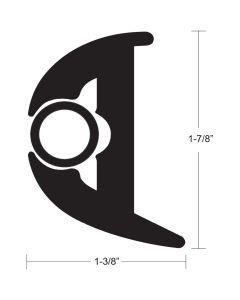 """TACO Flex Vinyl Rub Rail Kit - Black w/Black Insert - 70' - 1-7/8"""" x 1-3/8"""""""