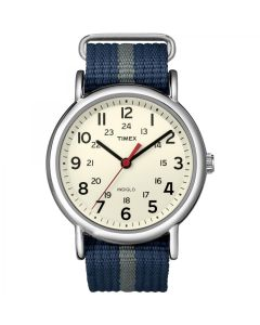 Timex Weekender Slip-Thru Watch - Navy/Gray