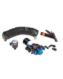 Jabsco HotShot Series Automatic Washdown Pump w/25' HoseCoil - 5.0GPM - 70psi - 12VDC