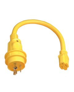Marinco Pigtail Adapter - 15A Female to 30A Male