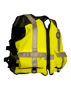 Mustang High Visibility Industrial Mesh Vest - SM/MED - Yellow/Black