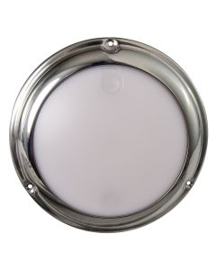 Lumitec TouchDome - Dome Light - Polished SS Finish - 2-Color White/Red Dimming