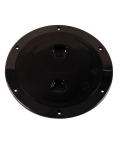 "Beckson 6"" Smooth Center Screw-Out Deck Plate - Black"