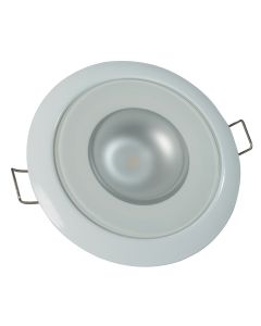 Lumitec Mirage - Flush Mount Down Light - Glass Finish/White Bezel - Warm White Dimming