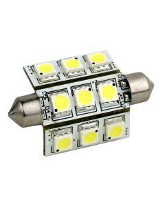 Lunasea 3-Sided 9 LED Festoon - 10-30VDC/2W/141 Lumens - Warm White