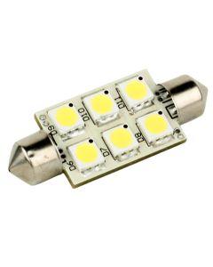 Lunasea Single-Sided 6 LED Festoon - 10-30VDC/1.5W/97 Lumens - Warm White