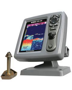 SI-TEX CVS-126 Dual Frequency Color Echo Sounder w/600kW Thru-Hull Transducer 1700/50/200T-CX
