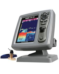 SI-TEX CVS-126 Dual Frequency Color Echo Sounder w/B744V Thru-Hull Transducer