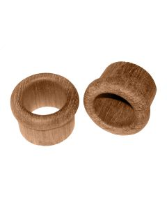 "Whitecap Teak Finger Pull - 1"" Barrel Length - 2 Pack"