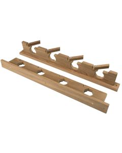 Whitecap Teak Lock-In Four-Rod Storage Rack