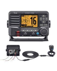 Icom M506 VHF Fixed Mount w/Rear Mic, AIS & NMEA 0183/2000 - Black