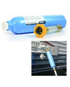 Camco TastePURE KDF/Carbon Water Filter w/Flexible Hose Protector