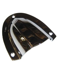 "Perko Clam Shell Ventilator - Chrome Plated Brass - 4"" x 3-3/4"""