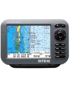 "SI-TEX SVS-880CE 8"" Chartplotter w/External GPS Antenna & Navionics+ Card"