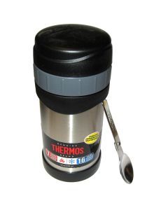 Thermos Stainless Steel Food Jar w/Folding Spoon - 16 oz.