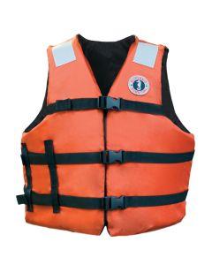 """Mustang Adult Universal Fit Industrial Flotation Vest - 30""""-52"""" Vest - Orange"""