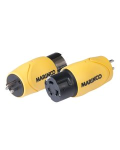 Marinco Straight Adapter - 15A Male Straight Blade to 50A 125/250V Female Locking