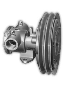"""Jabsco 1-1/4"""" Electric Clutch Pump - Double A Groove Pulley - 12V"""