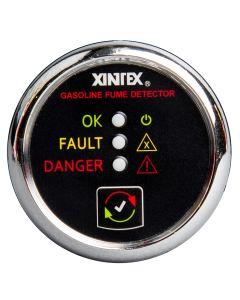 Xintex Gasoline Fume Detector & Alarm w/Plastic Sensor - Chrome Bezel Display