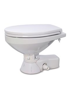 Jabsco Quiet Flush Raw Water Toilet - Compact Bowl - 24V